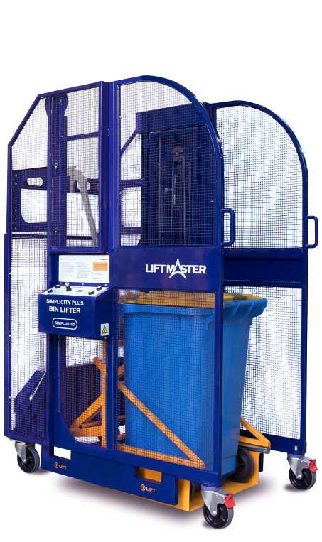 The Simplicity Plus bin lifter