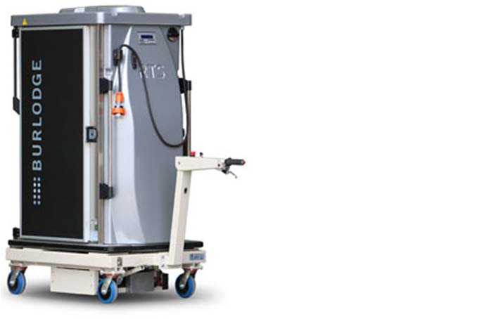 The Transpak powered meal delivery trolley