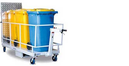 Powered bin trolley