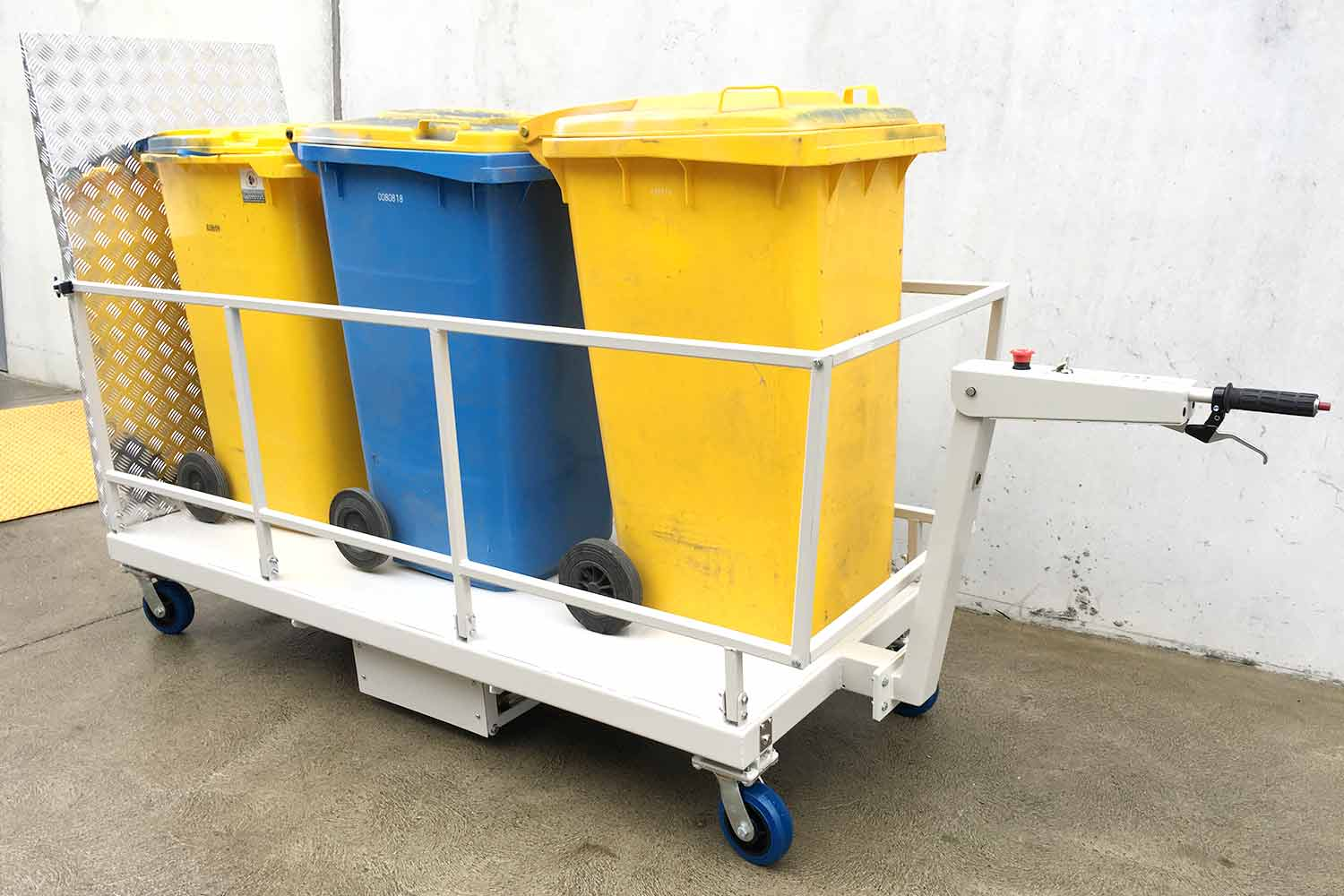 Electrodrive's Powered Bin Trolley (front view)