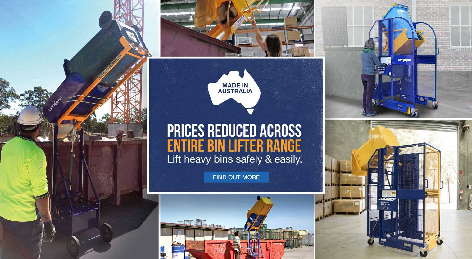 Prices have reduced across the entire range of Liftmaster bin lifters
